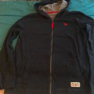 Abercrombie front zip boys hoodie Size 13/14